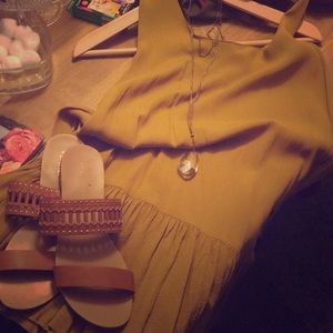Mustard Yellow Drop-Waist ASOS Dress